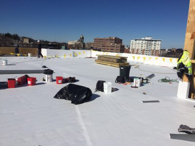 Flat Roofing Contractor Downtown Boston
