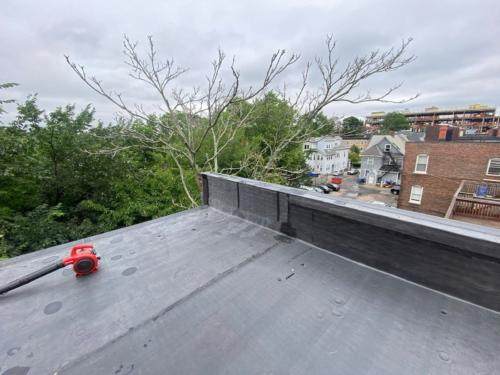 Flat Rubber Re-roof on Brighton Ave in Allston Ma