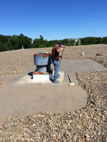 Ballast Roof Repair With River Stones – Salem, MA